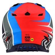 Motocross Helm Troy Lee Designs SE4 Polyacrylite Beta navy