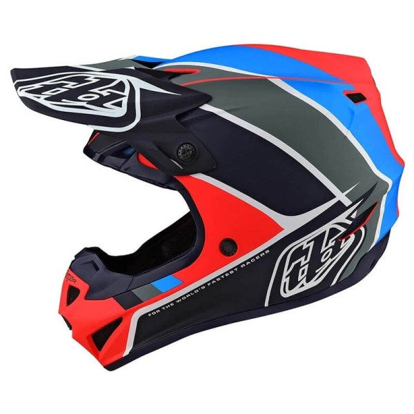 Motocross Helmet Troy Lee Designs SE4 Polyacrylite Beta navy