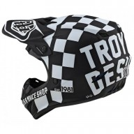 Casque cross Troy Lee Designs SE4 Polyacrylite Checker black