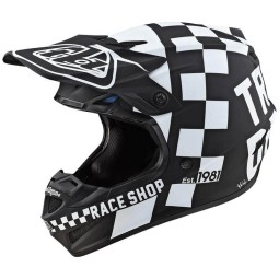 Casco cross Troy Lee Designs SE4 Polyacrylite Checker black,Caschi Motocross