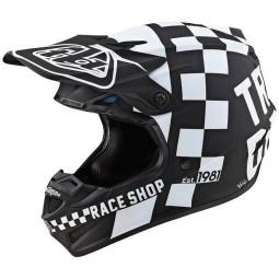 Motocross Helmet Troy Lee Designs SE4 Polyacrylite Checker black,Motocross Helmets