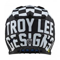 Motocross Helmet Troy Lee Designs SE4 Polyacrylite Checker black