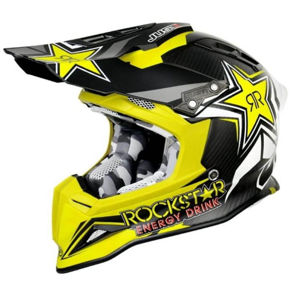 Casque cross Just1 J12 Rockstar Energy 2.0