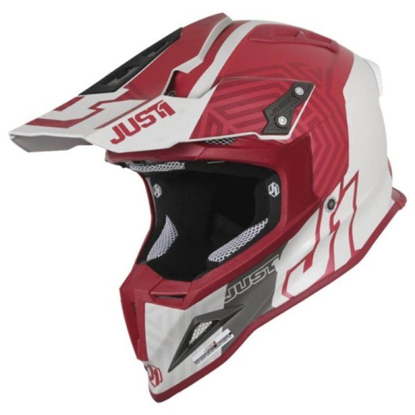 Motocross helmet Just1 J12 Syncro grey bordeaux