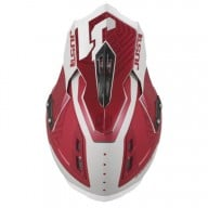 Casco de cross Just1 J12 Syncro grey bordeaux