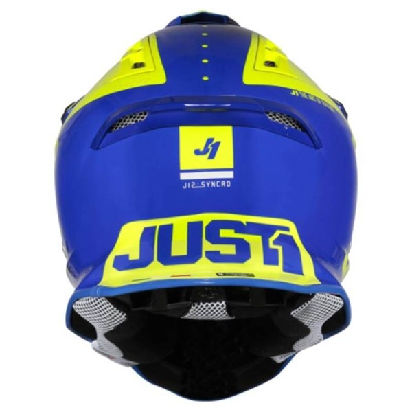 Casque cross Just1 J12 Syncro yellow blue