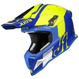 Casco cross Just1 J12 Syncro yellow blue,Caschi Motocross