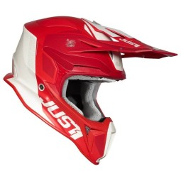 Casco de cross Just1 J18 Pulsar red white