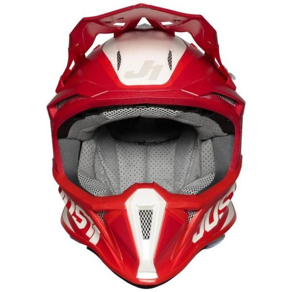 Casque cross Just1 J18 Pulsar red white