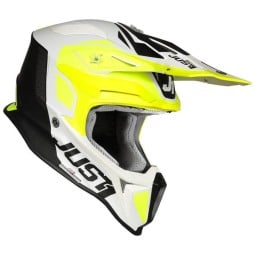 Motocross helmet Just1 J18 Pulsar yellow white black,Motocross Helmets