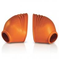 Protection repose-pieds en caoutchouc Acerbis orange