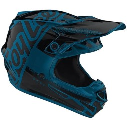 Casco Troy Lee Designs SE4 Polyacrylite Factory Ocean,Caschi Motocross