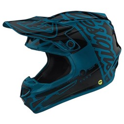 Casque Troy Lee Designs SE4 Polyacrylite Factory Ocean