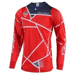 Motocross Jersey Troy Lee Designs SE Air Metric red