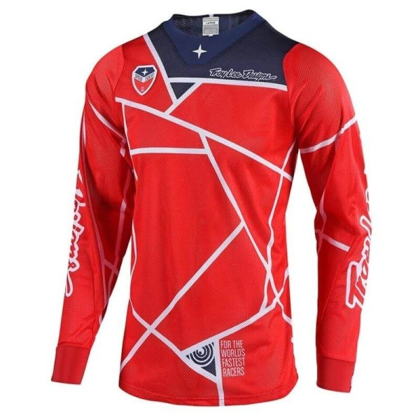 Motocross Jersey Troy Lee Designs SE Air Metric red