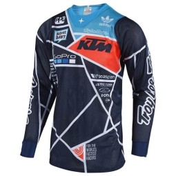 Motocross Trikot Troy Lee Designs SE Air Metric navy