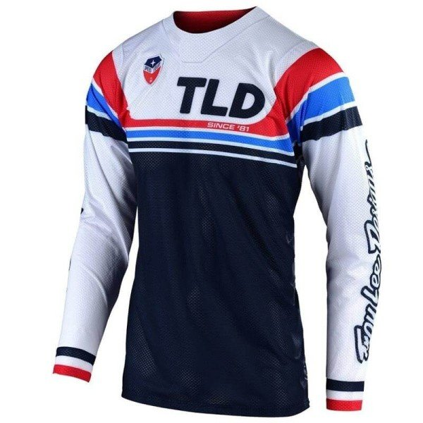 Maillot Cross Troy Lee Designs SE Air Seca white