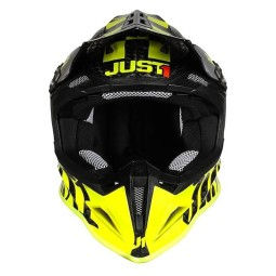 Casque cross Just1 J12 Pro Racer Fluo Yellow Carbon