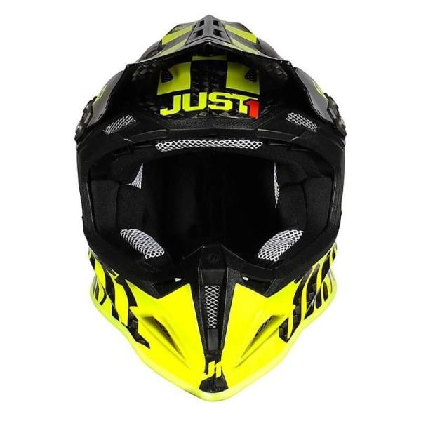 Motocross helmet Just1 J12 Pro Racer Fluo Yellow Carbon