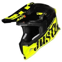 Casco cross Just1 J12 Pro Racer Fluo Yellow Carbon,Caschi Motocross