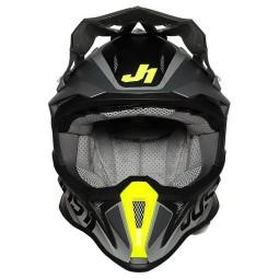 Casco cross Just1 J18\nPulsar yellow black,Caschi Motocross