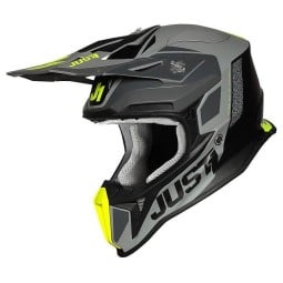 Casco cross Just1 J18\nPulsar yellow black,Caschi Motocross