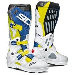 Stivali Sidi Atojo SRS bianco blu,Stivali Motocross