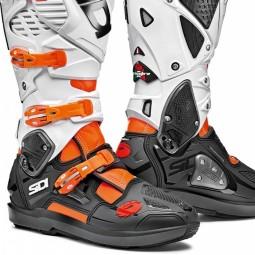 Bottes Sidi Crossfire 3 SRS orange noir blanc