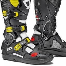 Stivali Sidi Crossfire 3 SRS bianco nero fluo,Motocross Shop