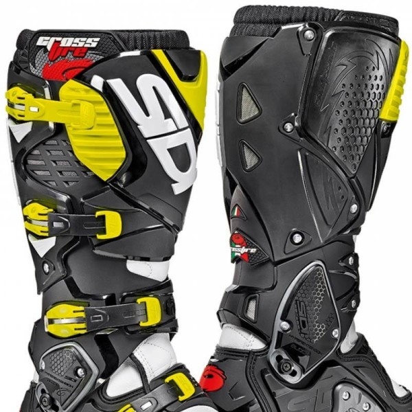 Motocross boots Sidi Crossfire 3 SRS white black fluo