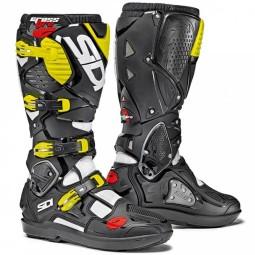 Motocross boots Sidi Crossfire 3 SRS white black fluo