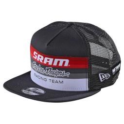 Troy Lee Designs Snapback Cap Sram Racing gris foncé