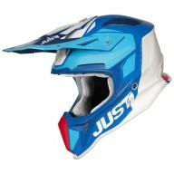 Just1 J18 Pulsar helmet blue red white