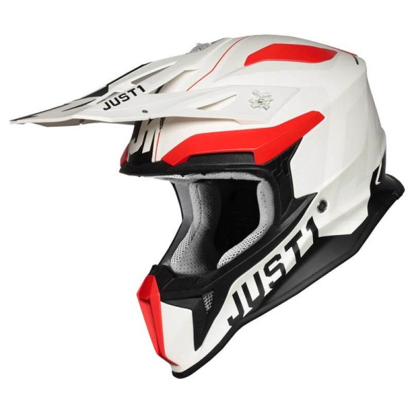Casque Just1 J18 Virtual fluo red white