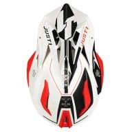 Just1-Helm J18 Virtual fluo red white