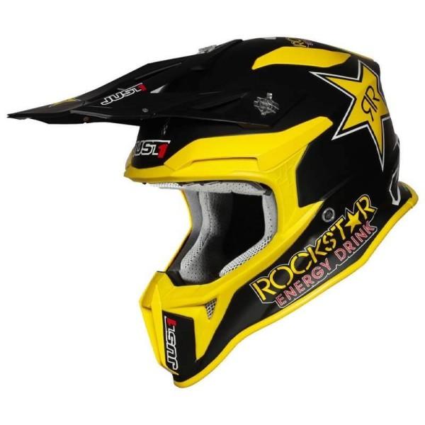 Motocross helmet Just1 J39 Rockstar Energy matt