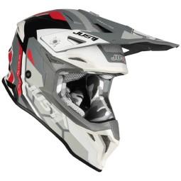 Just1 helmet J39 Reactor white red grey