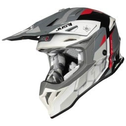 Casques cross Just1 J39 Reactor white red grey