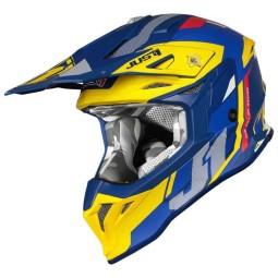 Motocross helmet Just1 J39 Reactor yellow blu