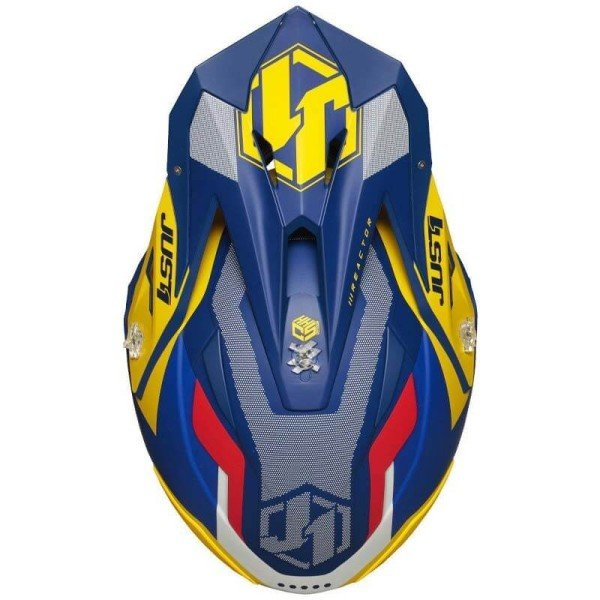 Casque cross Just1 J39 Reactor yellow blu