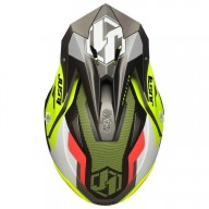 Motocross helmet Just1 J39 Reactor yellow titanium
