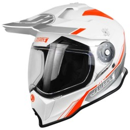 Just1 Enduro-Helm J14 Line weiss