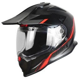 Casque enduro Just1 J14 Line fluo rouge