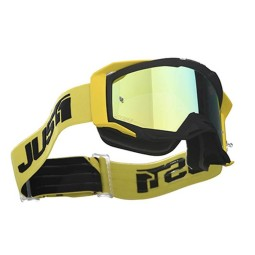 Motocross-Brille Just1 Iris Track black yellow