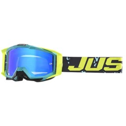 Motocross goggles Just1 Iris Leopard blue