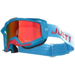 Motocross goggles Just1 Iris Pulsar turquoise red