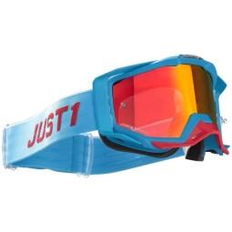 Masque motocross Just1 Iris Pulsar turquoise red