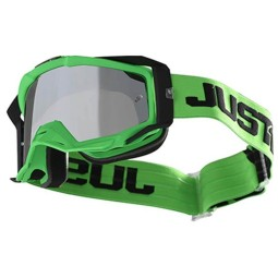 Motocross goggles Just1 Iris Track green
