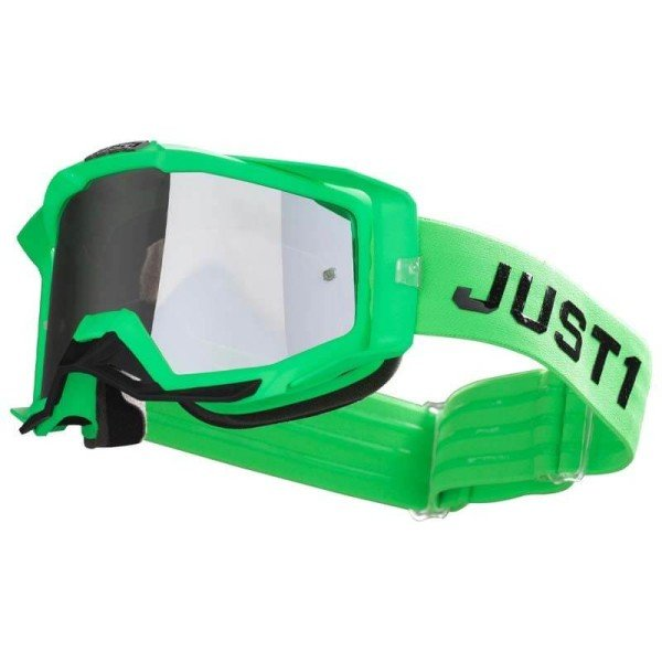 Masque motocross Just1 Iris Pulsar fluo green