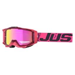 Masque motocross Just1 Iris Leopard pink